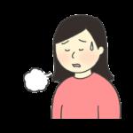 ため息をつく女性のイラスト