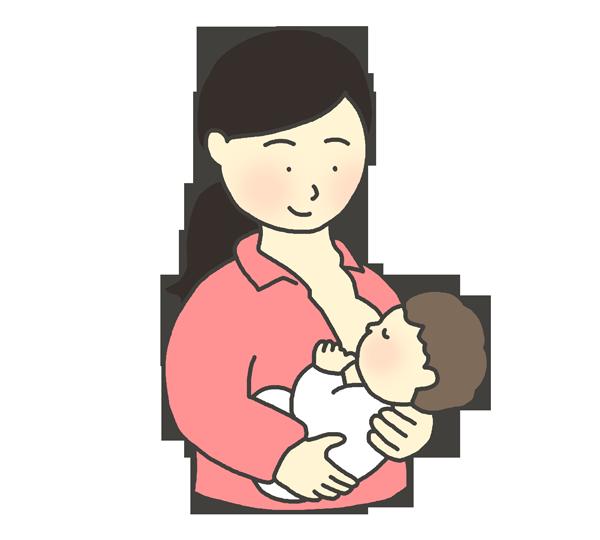 授乳をしているお母さんのイラスト