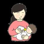 ミルクで授乳をする女性のイラスト