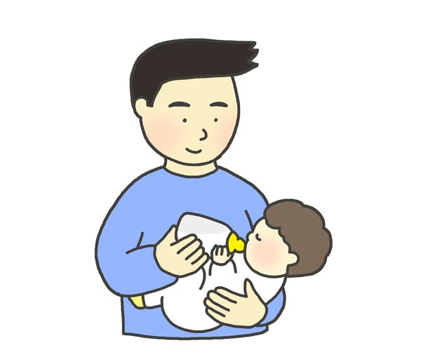 授乳のイラスト(男性)