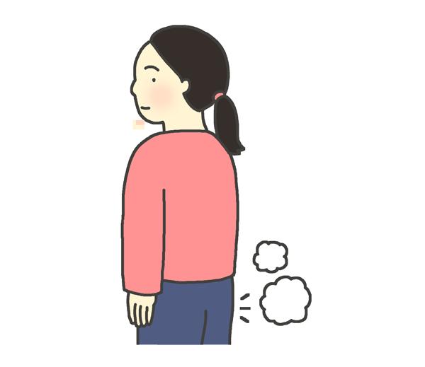 おならのイラスト(女性)