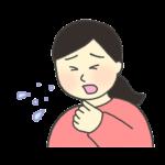 咳き込む女性のイラスト