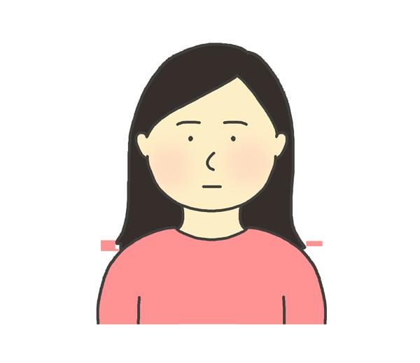 無表情な女性のイラスト