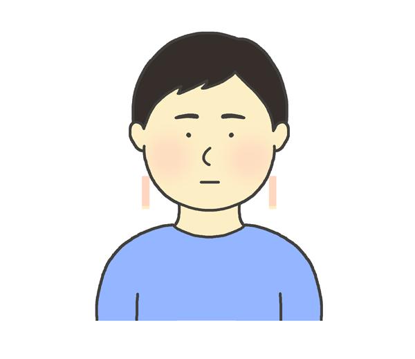 無表情な男性のイラスト