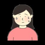 汗をかく女性のイラスト