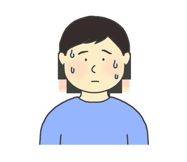 汗をかく男性のイラスト