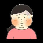 おたふく風邪のイラスト(女性)