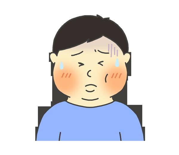 おたふく風邪のイラスト(男性)
