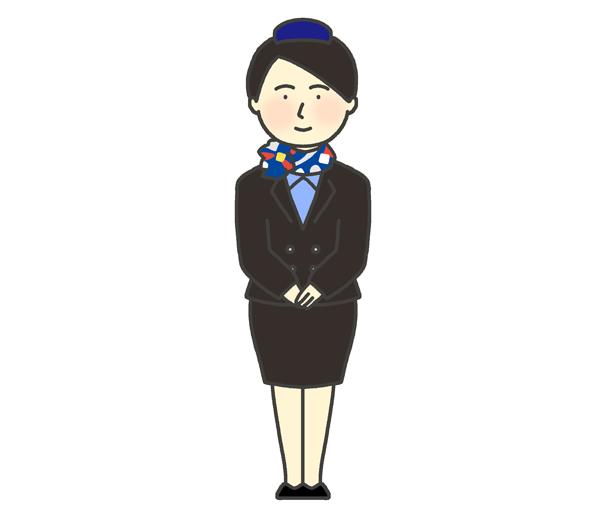客室乗務員のイラスト(女性)