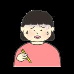 美味しくない表情をする女の子のイラスト