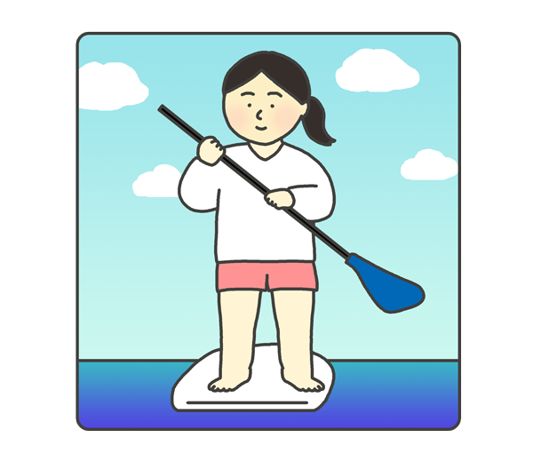 SUPのイラスト(女性)