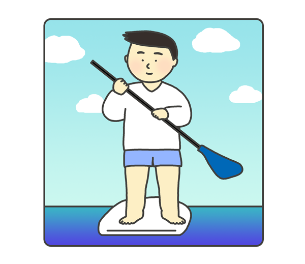 SUPのイラスト