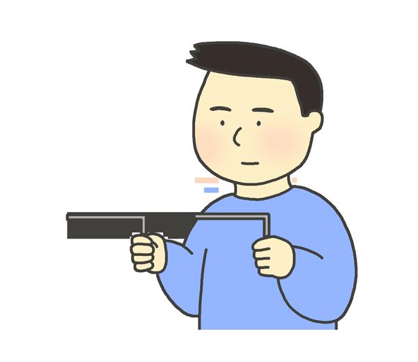 ダウジングのイラスト(男性)