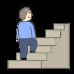 階段をのぼるおじさんのイラスト