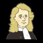 ニュートンの似顔絵イラスト