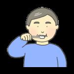 歯磨きしている男性のイラスト