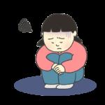 憂鬱な表情の女の子のイラスト