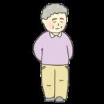 散歩をしているおばあさんのイラスト