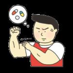ドーピングのイラスト(男性)