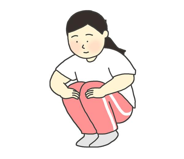 屈伸のイラスト(女性)