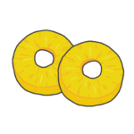 パイナップル輪切りのイラスト