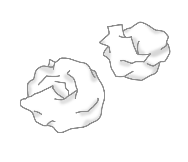 紙屑のイラスト