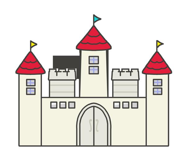 西洋のお城のイラスト