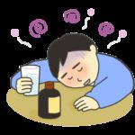 飲みすぎのイラスト(男性)
