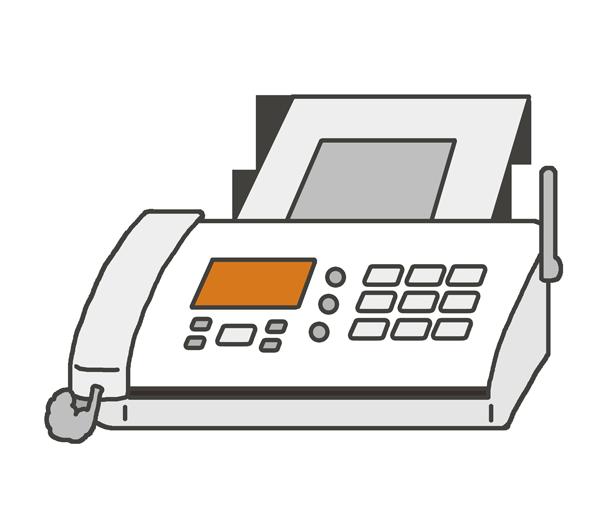 ファックスのイラスト