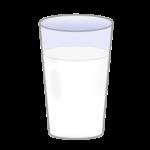コップに入ったミルクのイラスト