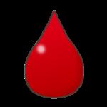 血液のしずくのイラスト